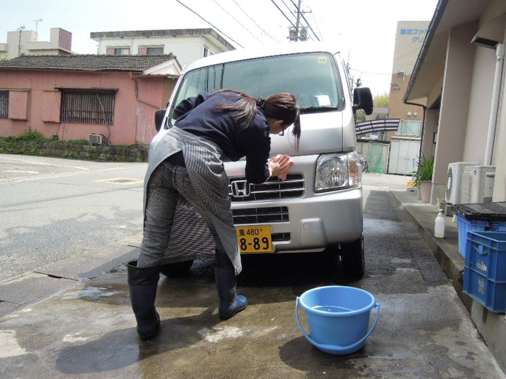 長靴 洗車
